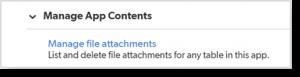 manage file attachments
